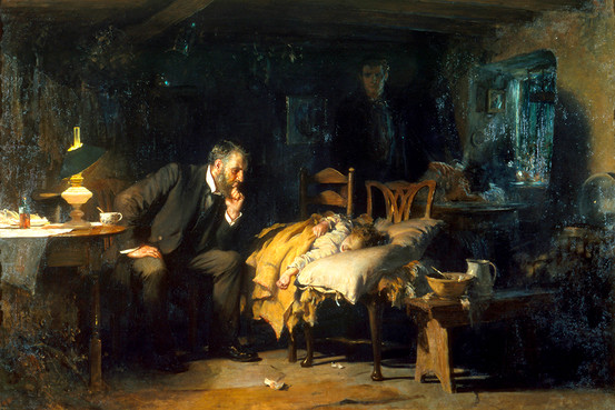 """The Doctor"" by Sir Luke Fildes"